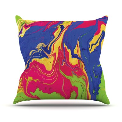 Escaping Reality by Claire Day Throw Pillow Size: 26 H x 26 W x 1 D