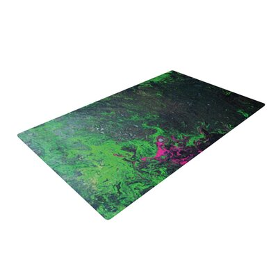 Claire Day Acid Rain Green/Black Area Rug Rug Size: 2 x 3