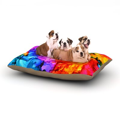 Claire Day Sweet Sour II Dog Pillow with Fleece Cozy Top Size: Small (40 W x 30 D x 8 H)