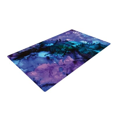 Claire Day Soul Searching Blue/Purple Area Rug Rug Size: 2 x 3