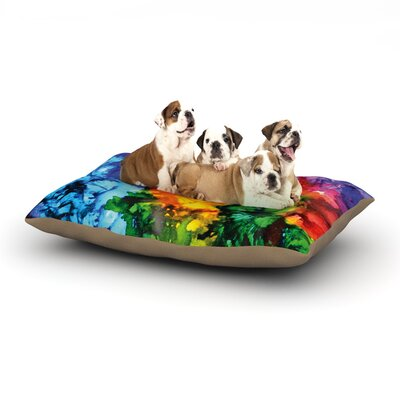 Claire Day Karma Paint Dog Pillow with Fleece Cozy Top Size: Large (50 W x 40 D x 8 H)