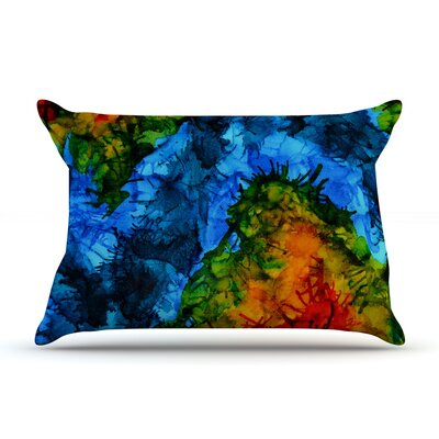 Flow by Claire Day Featherweight Pillow Sham Size: Queen, Fabric: Woven Polyester