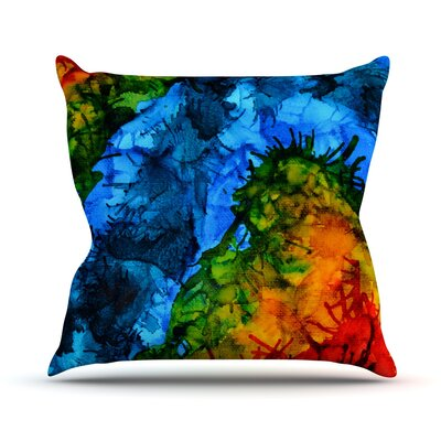 Flow by Claire Day Throw Pillow Size: 26 H x 26 W x 1 D