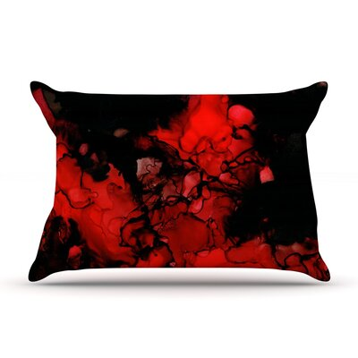 Vesuvius by Claire Day Featherweight Pillow Sham Size: King, Fabric: Woven Polyester