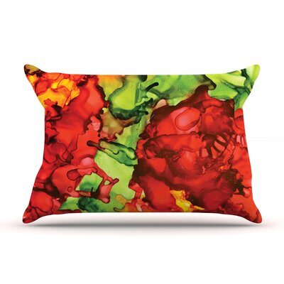 One Love by Claire Day Featherweight Pillow Sham Size: King, Fabric: Woven Polyester
