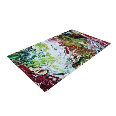 Claire Day Chaos Green/Blue Area Rug Rug Size: 4 x 6