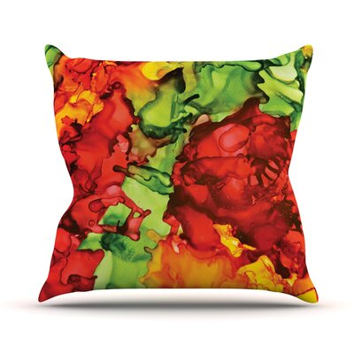 One Love by Claire Day Throw Pillow Size: 18 H x 18 W x 1 D