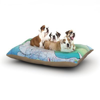 Catherine Holcombe Im on a Boat Dog Pillow with Fleece Cozy Top Size: Small (40 W x 30 D x 8 H)