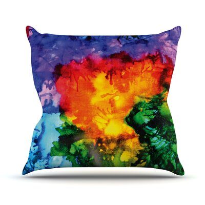 Karma by Claire Day Rainbow Paint Throw Pillow Size: 18 H x 18 W x 1 D