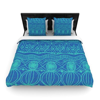 Beach Blanket Confusion Woven Comforter Duvet Cover Size: Full/Queen