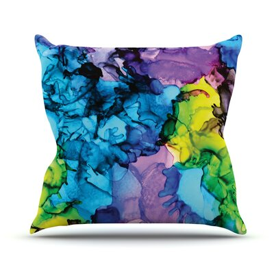 Mermaids by Claire Day Paint Throw Pillow Size: 18 H x 18 W x 1 D
