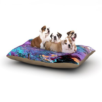 Claire Day Lola Paint Dog Pillow with Fleece Cozy Top Size: Large (50 W x 40 D x 8 H)