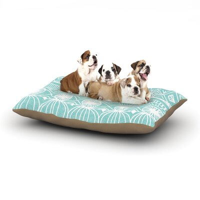 Catherine Holcombe Beach Blanket Bingo Dog Pillow with Fleece Cozy Top Size: Small (40 W x 30 D x 8 H)