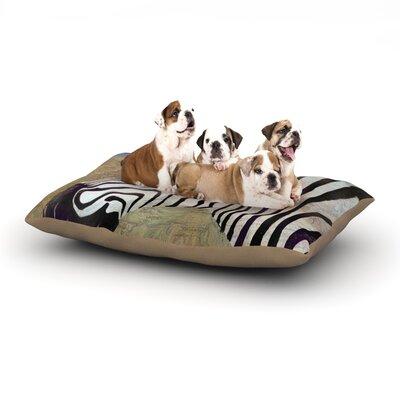 Catherine Holcombe Zebransky Dog Pillow with Fleece Cozy Top Size: Small (40 W x 30 D x 8 H)