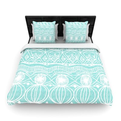 Catherine Holcombe Woven Comforter Duvet Cover Size: Full/Queen, Color: Beach Blanket Bingo