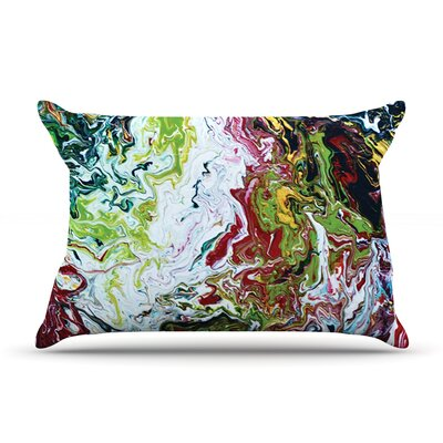 Chaos by Claire Day Featherweight Pillow Sham Size: King, Fabric: Woven Polyester