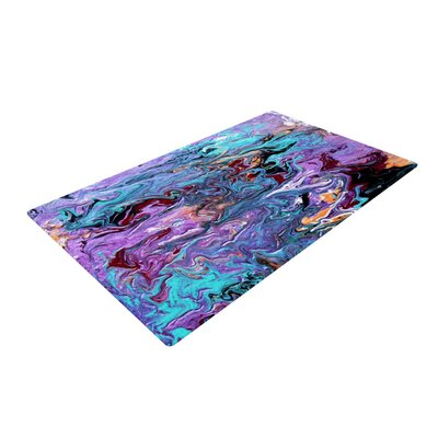 Claire Day Lola Paint Purple Area Rug