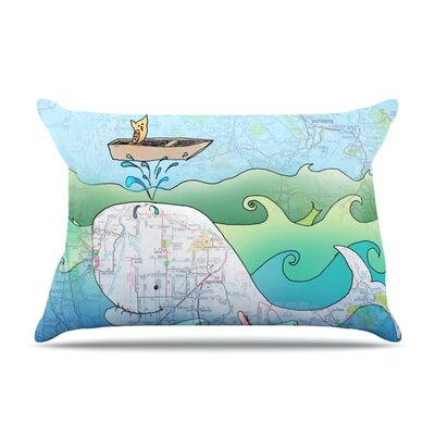 Im on a Boat by Catherine Holcombe Featherweight Pillow Sham Size: King, Fabric: Woven Polyester