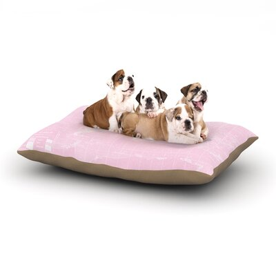 Catherine Holcombe Her World Dog Pillow with Fleece Cozy Top Size: Large (50 W x 40 D x 8 H)