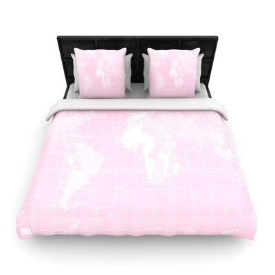 Catherine Holcombe Woven Comforter Duvet Cover Size: King, Color: Her World