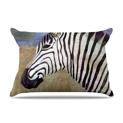 Zebransky by Catherine Holcombe Featherweight Pillow Sham Size: Queen, Fabric: Woven Polyester