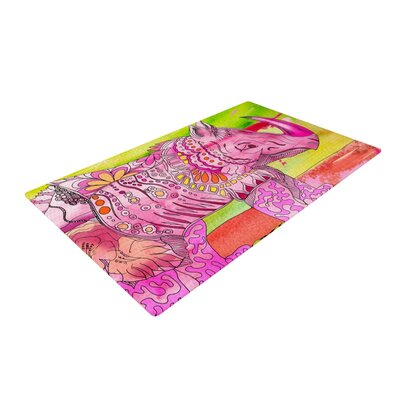 Catherine Holcombe Pretty in Pink Pink/Green Area Rug
