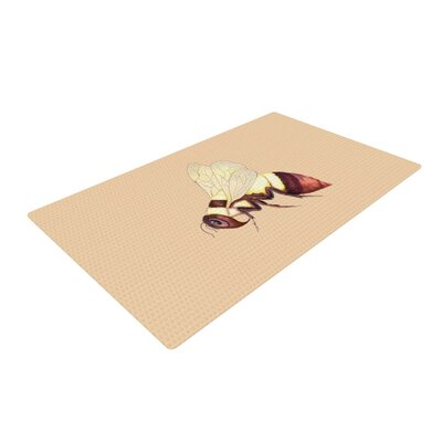 Catherine Holcombe Bee Happy Beige/Brown Area Rug Rug Size: 2 x 3
