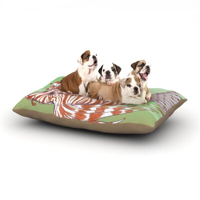 Catherine Holcombe Fish Manchu Dog Pillow with Fleece Cozy Top Size: Small (40 W x 30 D x 8 H)