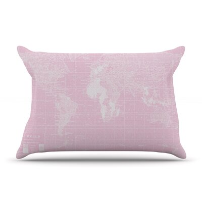 Her World by Catherine Holcombe Featherweight Pillow Sham Size: Queen, Fabric: Woven Polyester