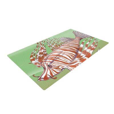 Catherine Holcombe Fish Manchu Green/Brown Area Rug Rug Size: 4 x 6