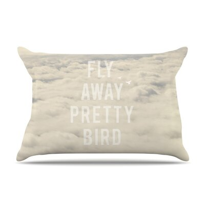 Fly Away Pretty Bird by Catherine McDonald Featherweight Pillow Sham Size: King, Fabric: Woven Polyester