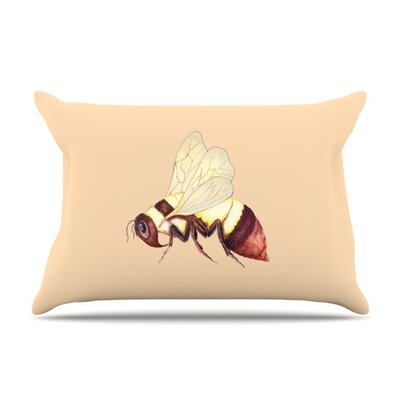 Bee Happy Beige by Catherine Holcombe Featherweight Pillow Sham Size: King, Fabric: Woven Polyester