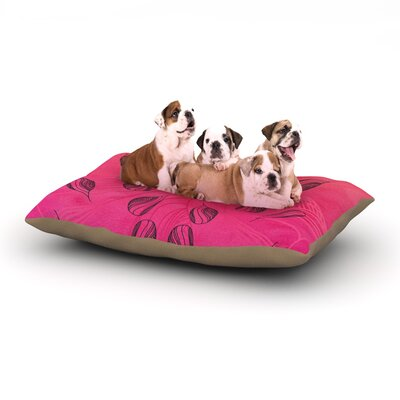 Catherine Holcombe Summer Sunset Dog Pillow with Fleece Cozy Top Size: Large (50 W x 40 D x 8 H)