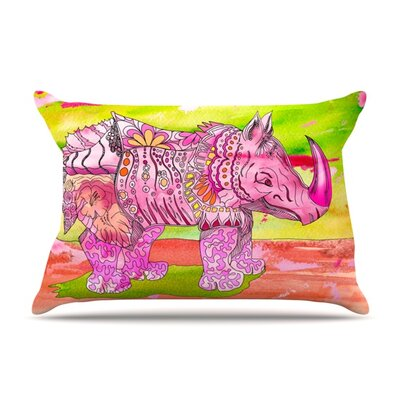Pretty in Pink by Catherine Holcombe Featherweight Pillow Sham Size: King, Fabric: Woven Polyester