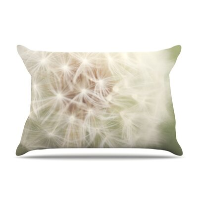 Dandelion by Catherine McDonald Featherweight Pillow Sham Size: Queen, Fabric: Woven Polyester