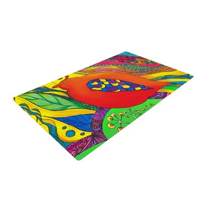 Catherine Holcombe Psycho Delic Dan Orange/Green Area Rug Rug Size: 2 x 3