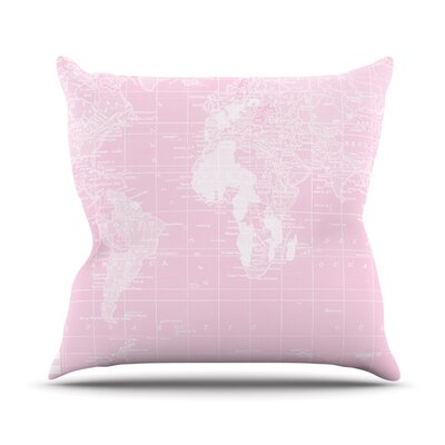 Her World by Catherine Holcombe Throw Pillow Size: 16 H x 16 W x 1 D