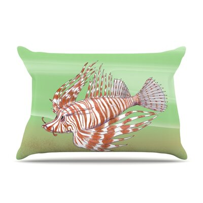 Fish Manchu by Catherine Holcombe Featherweight Pillow Sham Size: King, Fabric: Woven Polyester