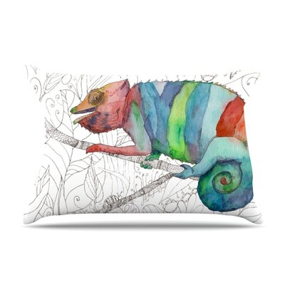 Chameleon Fail by Catherine Holcombe Featherweight Pillow Sham Size: King, Fabric: Woven Polyester