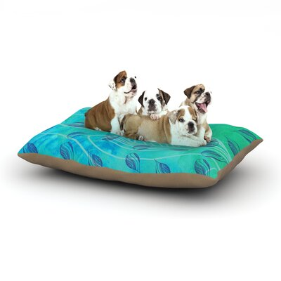 Catherine Holcombe Sweet Summer Swim Dog Pillow with Fleece Cozy Top Size: Small (40 W x 30 D x 8 H)
