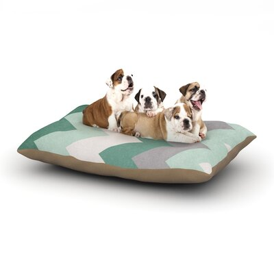 Catherine McDonald Winter Green Dog Pillow with Fleece Cozy Top Size: Small (40 W x 30 D x 8 H)