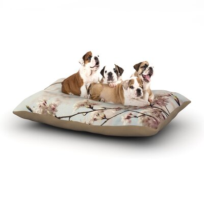 Catherine McDonald Japanese Cherry Blossom Dog Pillow with Fleece Cozy Top Size: Large (50 W x 40 D x 8 H)