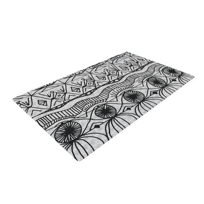 Catherine Holcombe Blanket of Confusion Gray/Black Area Rug Rug Size: 4 x 6