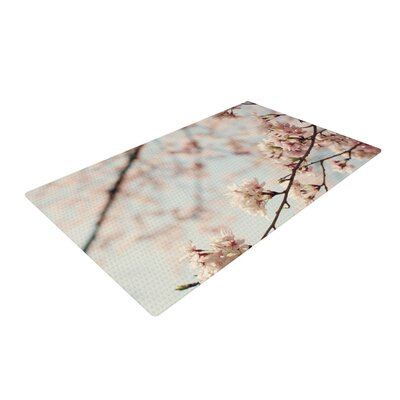 Catherine McDonald Japanese Cherry Blossom Pink Area Rug Rug Size: 2 x 3