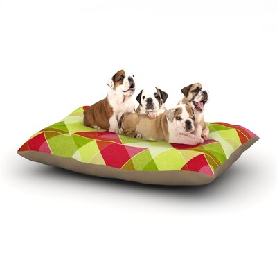 Catherine McDonald Palm Beach Dog Pillow with Fleece Cozy Top Size: Large (50 W x 40 D x 8 H)