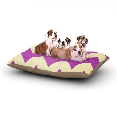 Catherine McDonald Juicy Chevron Dog Pillow with Fleece Cozy Top Size: Small (40 W x 30 D x 8 H)
