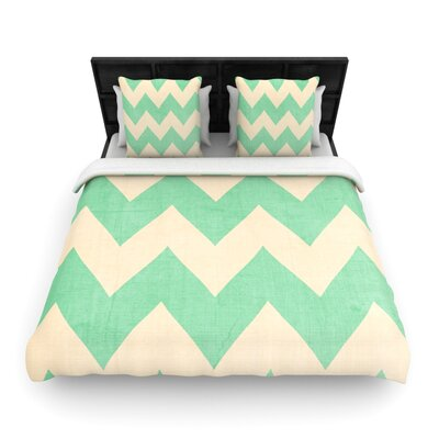 Catherine McDonald Woven Comforter Duvet Cover Size: King, Color: Malibu