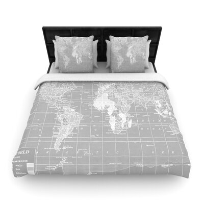 Catherine Holcombe Woven Comforter Duvet Cover Size: Twin, Color: The Olde World