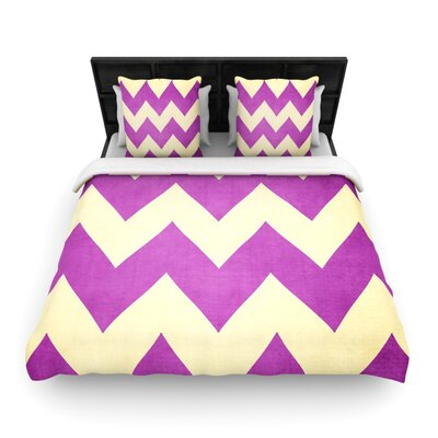 Catherine McDonald Woven Comforter Duvet Cover Size: King, Color: Juicy