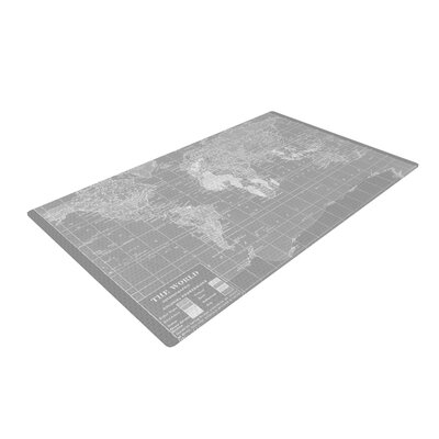 Catherine Holcombe the Old World Gray Area Rug Rug Size: 2 x 3